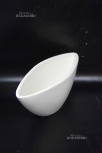 Plant Pot White Bassano Italy 29x10 Cm