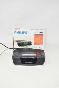 Radio Sveglia Philips Nera UKW-/MW FUNZIONANTE