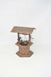 Statua Pozzo In Metallo Antico 20 Cm Altezza