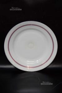Plate Oepiag Royal White Antique Bordo Bordeauxx28 Cm Diameter