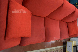 Sofa Bed Red In Fabric Removable Cover
