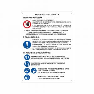 Cartello Informativa Covid19 per le Aziende