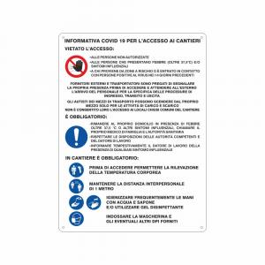 Cartello Informativa Covid19 per l'accesso ai Cantieri