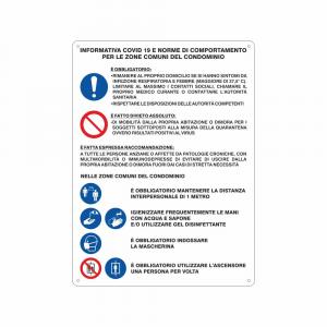 Cartello Informativa Covid19 per le zone comuni dei Condomini