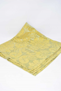 Tea Runner Green With Decors Gold Plated 74x74 Cm