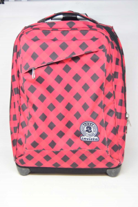 Backpack Small Painting Red Black Invicta Included Of Wheels
