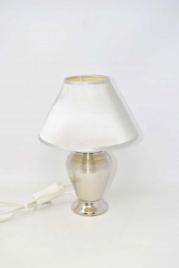 Bedside Lamp Effect Chrome Height 28 Cm