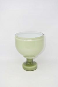 Vaso In Vetro Verde Altezza 24 Cm