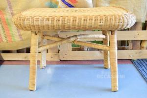 Table In Wicker 70x44 Cm