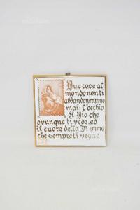 Piastrella In Terracotta Con Frase Sull'abbandono