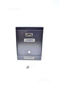 Cassetta Per La Posta Nera Con Chiavi 22 X 31 Cm
