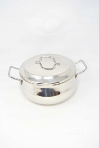 Steel Pan Katia New Made In Italy N°.22 With Lid
