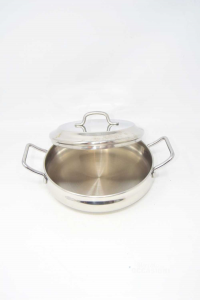 Steel Pan Katia New Made In Italy N°.22 Low With Lid