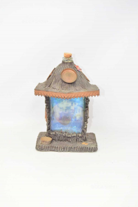 Botle Hand Made Shape Of Cottage Of Mountain Height 24 Cm
