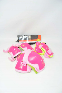Set 3 Protezione Play Per Bambina Rosa Tg Xxs