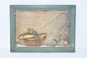 Quadro In 3D Raffigurante Zona Di Pescatori 37 X 27 Cm