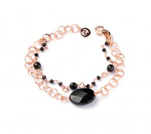 Sovrani bracciale donna Jacotte con onice e rosario nero J5510