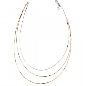 Sovrani collana in argento donna triplo filo dorato argento rosè J4791