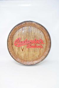 Fondo Di Botte Decorativo Da Appendere In Polistirolo Birra Budweiser Diametro 40 Cm