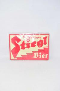 Targa In Alluminio Birra Stiegl Salisburgo 30 X 20 Cm