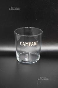 6 Bicchieri Campari In Vetro