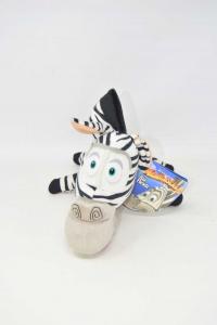Pupazzo Madagascar La Zebra NUOVO
