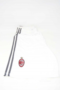 Bermuda Uomo Bianco Ufficiale Milan Adidas NUOVO Tg L
