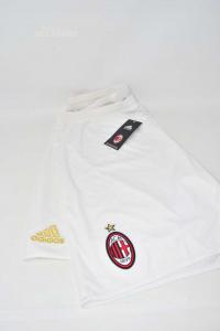Bermuda Uomo Bianco Ufficiale Milan Adidas Tg XL
