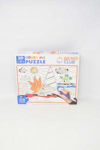 Puzzle Da Colorare 3D Bravo Club NUOVO