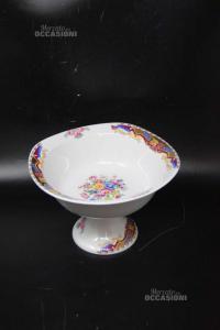 Alzatina Tipo Limoges In Ceramica 12x19x19 Cm