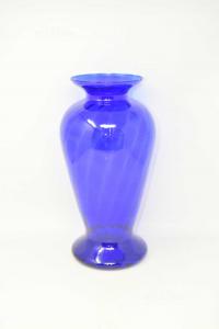 Vaso Firi In Vetro Blu 35 Cm Altezza