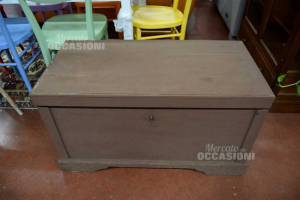Wooden Trunk Painted Of Brown