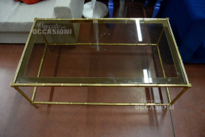 Table Brass With Top Glass