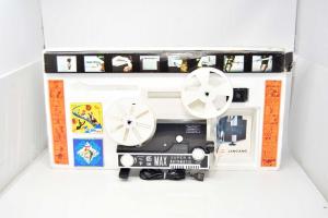 Gioco Vintage Videoproiettore Cine Max Automatic 8 + Super 8 Zoom Funzionante +