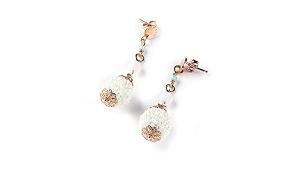 Sovrani orecchini pendenti in ottone con quarzo bianco Diane J5735