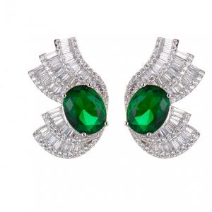 Sovrani Luce orecchini donna in argento con smeraldo J6212