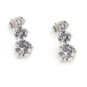 Sovrani Luce orecchini donna in argento con zirconi J5388