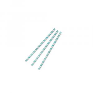 Cannucce in carta 8mm*195mm - Azzuzzo/Bianco