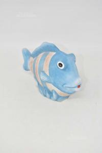 Pesce Terracotta Bianco Blu