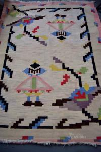 Tappeto In Lana Bordo Rosa 165x230 Cm