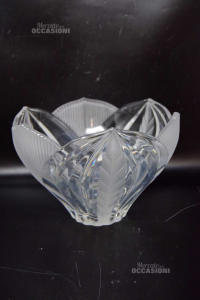 Vase Fruit Bowl In Crystal To Shaped As Flower 16x23 Cm
