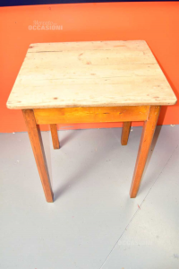 Table Squared In Wood 66x61xh78 Cm The