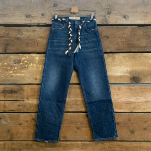Jeans Haikure Donna Virginia Light Comfort Dark Blu Con Cintura