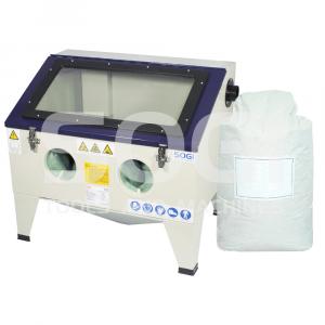 Sabbiatrice professionale SOGI S-72 da banco + sacco 25 kg abrasivo allumina\/vetro