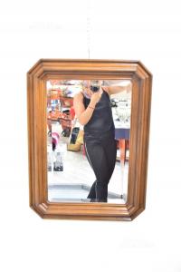Specchio In Legno Rettangolare 58 X 78 Cm