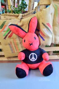 Plush Rabbit Play Boy Red Black 75 Cm