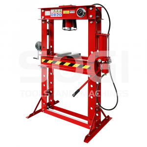 Pressa idraulica manuale e pneumatica SOGI P45-MP da 45 ton per officina