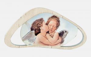 Bomboniera in legno con angeli Estego cod 061510.7