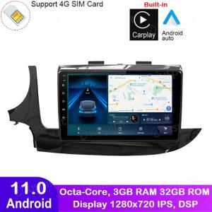 ANDROID autoradio navigatore per Opel Mokka 2016-2018 CarPlay Android Auto GPS USB WI-FI Bluetooth 4G LTE