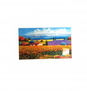Zerbino digitale 45x75 campo di girasoli e lavanda
